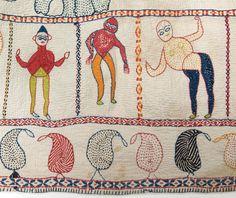 Nakshi Kantha on Pinterest | 371 Images on kantha quilt, embroidered …