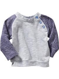 Side-Button Sweatshirts for Baby