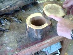 Here are a few ideas I came up with for making things using just an old log.