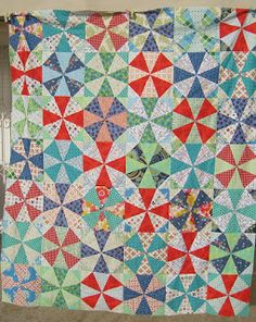 noga quilts: Kaleidoscope quilt top - finished