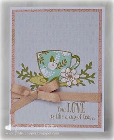 Gina's Little Corner of StampinHeaven: March Stamp of the Month - Tea-riffic