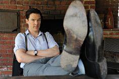 Benedict Cumberbatch - New York Times: April 26, 2012. #feet #suspenders #raisedeyebrow