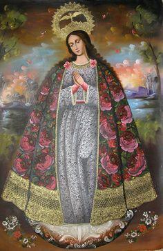 Virgen Inmaculada Concepcion - Escuela Cusqueña