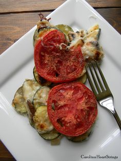 Crustless Zucchini Pie -  A delicious summer recipe! Your family will love this one.