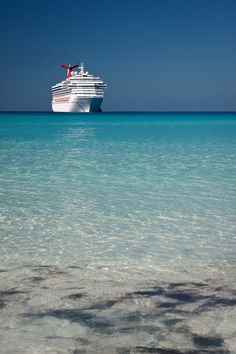 Oh, sweet Liberty....Carnival Liberty, that is...docked in Half Moon Cay, Bahamas.