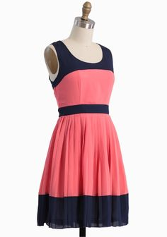 Fond Of You Pleated Dress In Coral | Modern Vintage Dresses