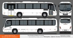 Onibus Marcopolo, Mercedes Benz, Motorhome, Rio, Buses, Paper, Design, City, Activity Toys