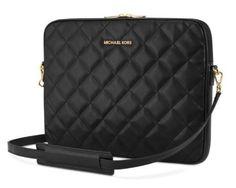 """Michael Kors MacBook Pro & Pro Retina 13"""" Black Quilted Laptop Sleeve Case New #MichaelKors #macbookpro #proretina13"""