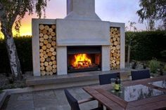 Fireplace by Warmington. Outdoor Fireplaces Gas Wood log Open Outdoor Alfresco fireplace- New Zealand - Fireplaces by Warmington Outdoor Open Gas Wood Burners log Fireplace FireplacesfireplaceOutdoorAlfresco Wood Fires Outdoor Fireplace Designs, Backyard Fireplace, Backyard Patio, Backyard Landscaping, Outdoor Fireplaces, Linear Fireplace, Modern Fireplaces, Fireplace Mantle, Fireplace Ideas