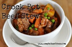 Crockpot Beef Stew - 21 Day Fix Recipes - Clean Eating Recipes Healthy Recipes - Dinner - Lunch weight loss - 21 Day Fix Meals - crockpot - www.simplecleanfitness.com