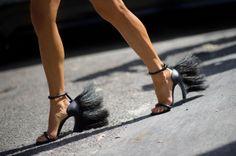 Loewe sandals @ Anna Dello Russo #annadellorusso #shoes #shoeporn #ELLE