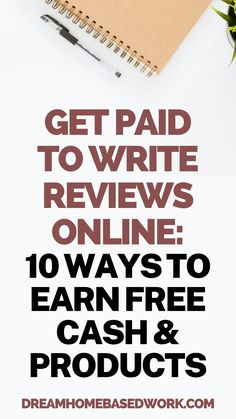 Have a talent for writing? You could get paid to write online reviews for various brands! There are quite a few companies that will pay you to write a review on their business and products. Save this pin and read on to learn the best tips for writing online reviews and a list of sites that pay! #workathome #onlinejobs #makemoneyonline Home Based Work, Work From Home Careers, Work From Home Companies, Legitimate Work From Home, Earn Money Online Fast, Make Money Today, Earn Money From Home, Way To Make Money, Earn Extra Cash
