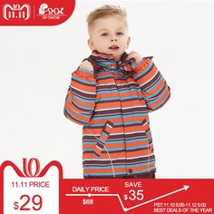 5549ad9c9 Sale SP-SHOW Winter Children's Outwear Turtleneck striped and printed  jackets Kids clothing boys and