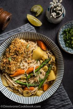 Oven Fried Fish Curry Noodle Soup | Omnivore's Cookbook