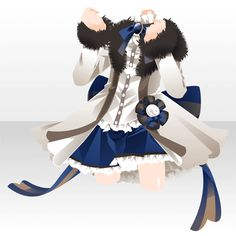 (Tops) Here Comes! Dress Drawing, Drawing Clothes, Drawing Board, Cute Anime Character, Character Outfits, Model Outfits, Girl Outfits, Golden Dress, Chibi Girl