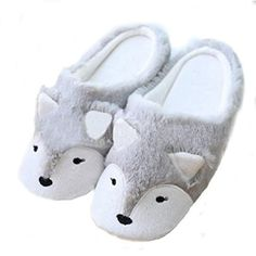 Womens Indoor Warm Fleece Slippers, Ladies Girls Cute Cartoon Winter Soft Cozy Booties Non-slip Plush Mules Home Bedroom Slip-on Shoes Ankle Boots Fox Slippers, Best Slippers, Winter Slippers, Cute Slippers, Slippers For Girls, Leather Slippers, Slipper Boots, Womens Slippers, Cute Bows