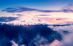 Download wallpapers Mount Baker, 4k, sunset, mountains, Seattle, USA, America