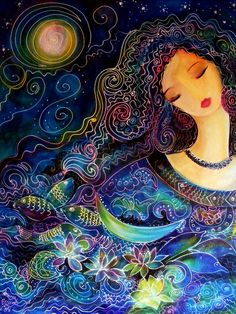Goddess Of Water Painting by Ronnie Biccard - Goddess Of Water Fine Art Prints and Posters for Sale
