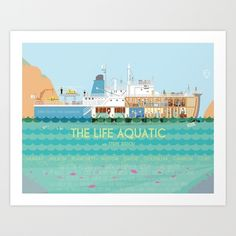 The Life Aquatic Art Print by Alan Segama | Society6