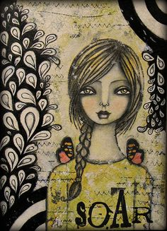 TWISTED FIGURES: New Art Journal Page! Artist: Shonna Bucaroff