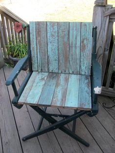 Chair That I Repuposed With Wood Found From A 1930's Home