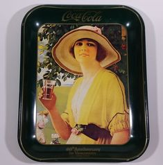 Vintage 1980 60th Anniversary of Coca-Cola in Vancouver 1920-1980 Yellow Dress Woman Official Tray https://treasurevalleyantiques.com/products/vintage-1980-60th-anniversary-of-coca-cola-in-vancouver-1920-1980-yellow-dress-woman-official-tray #Vintage #1980s #80s #Eighties #Anniversary #CocaCola #Coke #Vancouver #WestCoast #Girl #Woman #Sundress #Beverages #Sodas #Pops #Collectibles #ServingTray