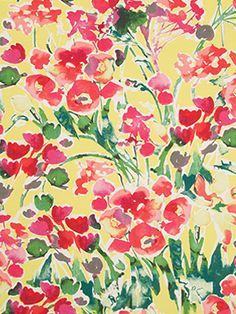 Introducing @dwellstudio for Robert Allen Modern Archive fabric: Severine in Poppy. With a color palette reminiscent of a #BillyBaldwin creation from the 1960s, this fabric has a stunning #watercolor effect that is possible only through a complicated digital printing process. Printed in Italy, this cotton and linen blend has a subtle basketweave construction that adds an element of texture to the design.