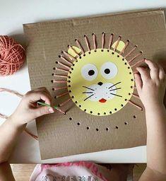 und Spielen fr Kinder - children FOR and . - -Basteln und Spielen fr Kinder - children FOR and . Kids Crafts, Toddler Crafts, Preschool Crafts, Arts And Crafts, Rock Crafts, Easy Crafts, Craft Projects, Montessori Activities, Toddler Activities