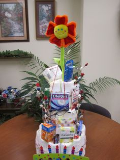 Depends diaper cake. This was a fun gift for my boss!