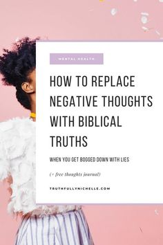 Click to grab your FREE, beautifully designed printable thoughts journal AND read 5 tips on how to stop negative thoughts and begin replacing negative thoughts with God's truth! how to get rid of negative thoughts, challenging negative thoughts, how to overcome negative thoughts, how to replace negative thoughts, how to overcome negative thinking, how to stop negative thinking, how to remove negative thoughts, stopping negative thoughts, stopping negative self thoughts Negative Thinking, Negative Thoughts, Christian Girls, Christian Faith, Chronological Bible Reading Plan, Freedom In Christ, Raising Godly Children, Identity In Christ, Christian Resources
