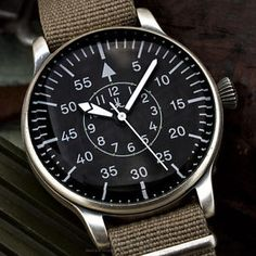 UK XXL MILITARY AVIATOR's Air Force PILOTs watch Airforce B-Uhr Luftwaffe 42mm
