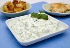 Tzatziki Hoe, Tzatziki, Atkins, Vinaigrette, Pesto, Tapas, Mashed Potatoes, Diet Recipes, Low Carb