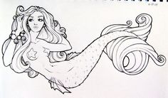 sketch of a mermaid for a tattoo flash sheet we are producing in the studio. it seems like all i have to upload lately are mermaid ladies. Mermaid Shell, Mermaid Art, Mermaid Pics, Tattoo Flash Sheet, Mermaid Drawings, Mermaid Sketch, Mermaid Coloring, Blue Pottery, Mermaids And Mermen