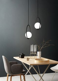 This Glass ball pendant lamp brings a dash of modern inspiration to your home decor arrangement as it lends a good light. This contemporary design can modernize your place and brings a feel of minimalism to a living room, dining room, or other spaces that could use a little touch of class and style. This pendant lamp featuring a simple metal design makes a subtle statement in any space. Please note: Your payment does not include customs duties, local taxes, or any other import costs. North Design, Wall Lights, Ceiling Lights, Glass Ball, Pendant Lamp, Contemporary Design, Bedroom Decor, Metal, Minimalism