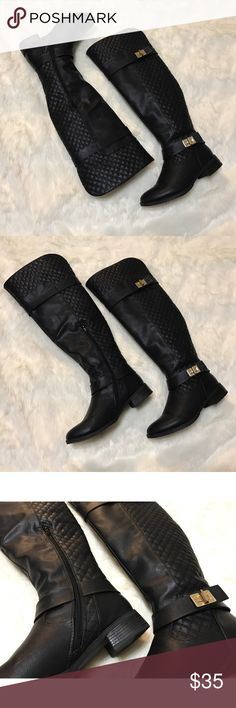 BOGO 50% OFF‼️ ⭐️ Tieana Boots Black quilted faux leather tall boots. Only worn a couple of times. Fairly new. In excellent condition.  PRICE IS FIRM unless bundled.  NO Trades. NO Models. Shoe Dazzle Shoes Over the Knee Boots