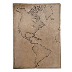 Ancient Globetrotter Leather Journal - Matr Boomie (J)Unique with its brown distressed leather cover, this handmade 5 x 7 inch journal features the new world emboss design and cotton pages.