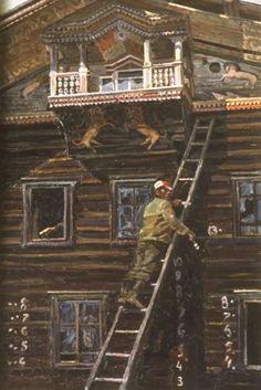 Авторские галереи - Смирнов Сергей Иванович / Судьба старого дома. / Живопись [Другое]
