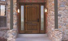 Front door, fiberglass.