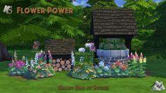 Set de fleurs Flower Power << Souris surKhany Sims