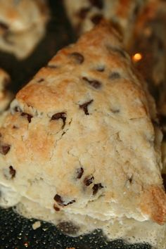 Quick and Easy Chocolate Chip Scones!! DELISH!!