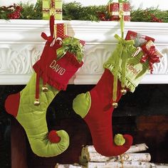 Personalized Holly Jolly Stocking traditional-christmas-stockings-and-holders All Things Christmas, Christmas Time, Christmas Crafts, Christmas Ideas, Whoville Christmas, Xmas, Whimsical Christmas, Christmas Sewing, Thanksgiving Ideas