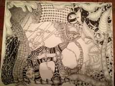 Playing around with Zentangle inspired patterns...