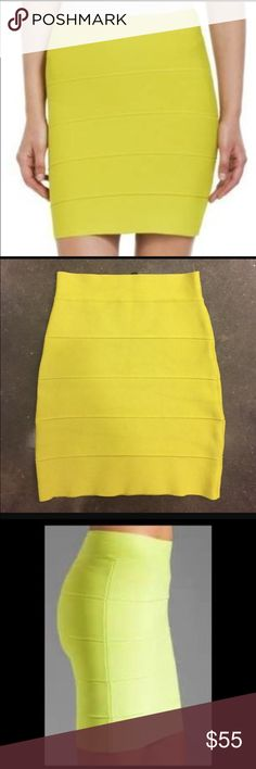 BCBG lime green skirt BNWT. Lime green bandage skirt. ❤ BCBGMaxAzria Skirts Mini