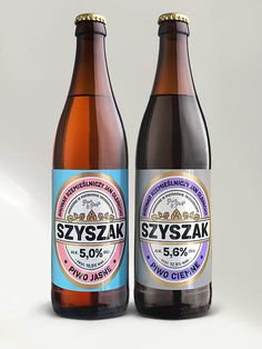 Szyszak is the first product line, which we created for Jan Olbracht Craft Brewery from Piotrków Trybunalski. Our task was to propose a name for the new brand Cool Packaging, Beverage Packaging, Bottle Packaging, Beer Label Design, Label Shapes, Wine And Beer, Packaging Design Inspiration, Brewery, Beer Bottle