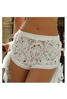 crocheted beach shorts