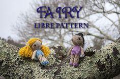 Hada - patrón libre / Fairy #freepattern in English by @enemy