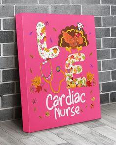 Love Cardiac Nurse Turkey Nursing Thanksgiving Aut - Cyber Pink obstetrics nursing, maois nursing, hypopituitarism nursing #nursingitem #nursingbra #nursinghomenurse