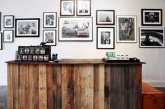 salvaged wood counter. general quarters #diy