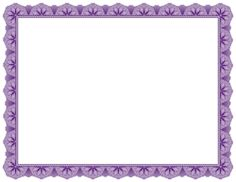 Free Purple Certificate Border Templates Including Printable Border Paper  And Clip Art Versions. File Formats Include GIF, JPG, PDF, And PNG.  Free Certificate Border Templates For Word