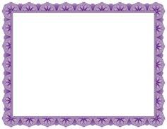 Purple Certificate Border